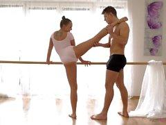 Flexible Dancer Blue Angel Swallows Cum