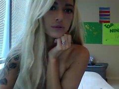 Underbar blondin babe med fantastiska bröst 1