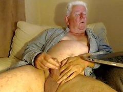 morfar stroke på webcam