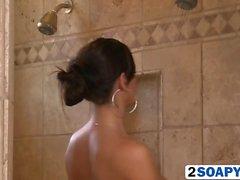 Kortney Kane gives soapy massage