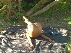 Sexy Nude Contortionist Нефритового