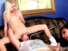 Jewel Jade and her hung husbands fuck blonde teen Elaina