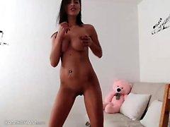Webcam babe masturba