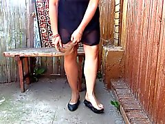 Russian Girl Pissing Standing In Her Panties)