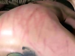 Hogtied skank getting hair bonded by maledom master