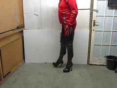 Мое кожаный шнурок вверх и задними Boots на молнии набедренные