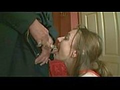 Dog-girl-slave-piss-training-pissed-on-mouth