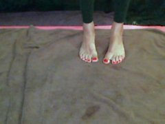 Min blandning klackar fötterna soles nylon footjob dildo