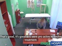 Sahte Hastane Doktor hastanın ıslak kedi cinsel sürpriz bulur