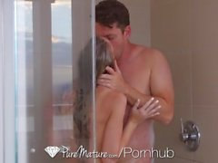 PureMature - Shawna Lenee turns shower session into sexy fuck