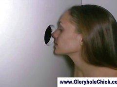 Cum liefdevolle gloryhole slet