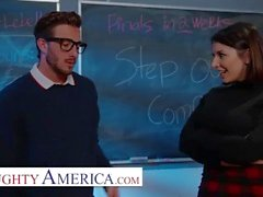 naughty america - ivy lebelle plays with her student