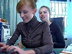 Lesbian passionate sex between lawyer and secretary