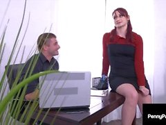 Hot Step Sisters Penny Pax & Violet Monroe Fuck Their Hard Cock Boss!