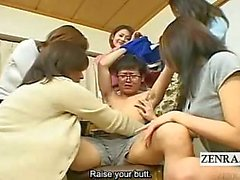 Subtitled Japanese milfs and cougars CFNM student harem