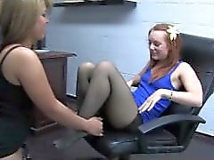 Danie Jensen gets her feet worshipped
