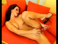Sexy Susana Spears has her fingers and a dildo pleasing her fiery slit