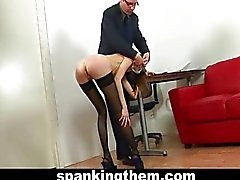 Spanked by boss