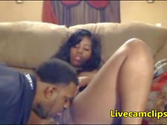 Ebony girlfriend eager to give a blowjob