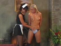 disappeared on arrival lesbian slave kneeling in front of orgasming mistress