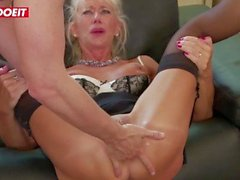 LETSDOEIT - Mature Teacher Marina Makes it Rain Twice For Her Promotion