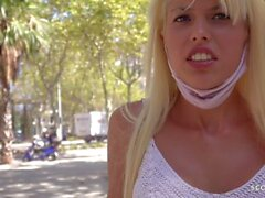 Scout alemán - Blonde Fit Latina Macarena Pickup y follar