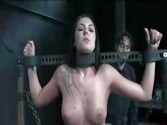 Busty brunette Chayse Evans is tied up in this BDSM movie