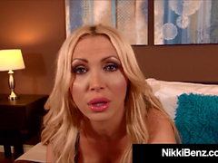 Hot Canadian Mountie Nikki Benz Gets Mouth & Titty Fucked!
