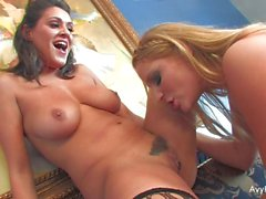 Lesbian threeway with Avy, Charley, and Aurora