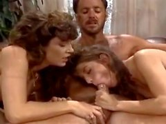 Bionca Nikki Dial Steve Drake in 80s porn girls finger each others shaved pussies