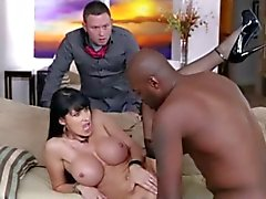 Busty wife is caught in Cock in front of husband