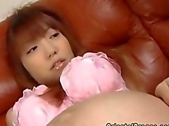 Oriental preggo gets her hairy pussy opened up