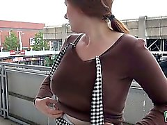 Eurobabe Helen pussy pounded in bus stop