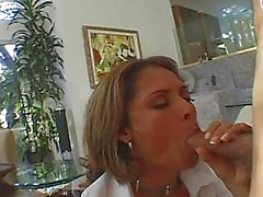 Monique Fuentes sucking and fucking a stiff cock