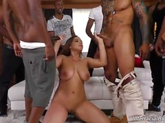Natasha Nice Interracial Blowbang