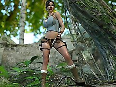 3D Lara Croft Jizzed by an Ogre!