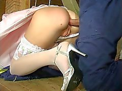 bride before the wedding in the ass fuck