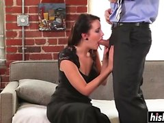 Kimberly makes a horny guy moan