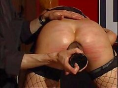 Master Costello has this blonde slave tied up and tortures her