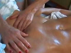 Athletic Perfect Blonde Lesbians Massage Turns Sexual