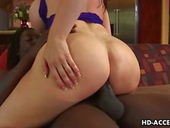 Busty whore Daphne Rosen interracial sex!