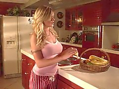 man versus woman pmv (horny blonde jills off with banana)