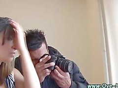 Hungry real latina gets a mouthful