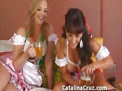 Catalina Cruz lesbian action with Alexis Texas