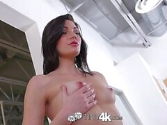 tiny4k small hands and tight pussy lips fit around big cock