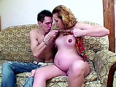 Young german tall boy fuck his pregnant Step-mom hard