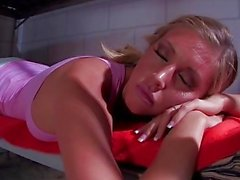 Bad blonde Samantha Saint takes a cock in jail