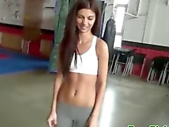 Real euro sports chick picked up for sex