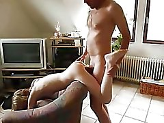 Skinny Blonde German Takes Big Cock