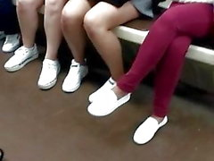 Legs in the subway
